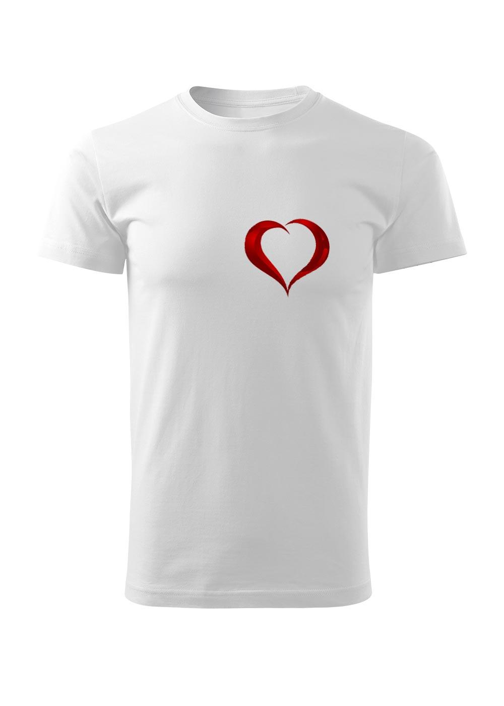 Bílé tričko s potiskem srdce